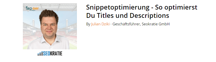 Snippetoptimierung - So optimierst Du Titles und Descriptions